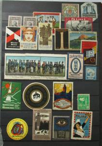 Alte Sammlung mit 300 Reklamemarken Vignetten meist Deutschland um 1920 (125799)