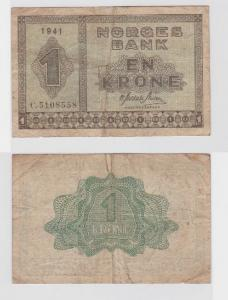 1 Krone Banknote Norwegen 1941 (118659)