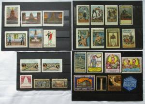 Alte Sammlung mit 27 Reklamemarken Vignetten meist Leipzig um 1920 (1282539)