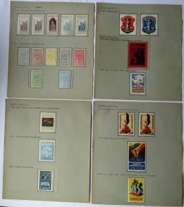Alte Sammlung mit 175 Reklamemarken Vignetten Ungarn 1896 bis 1934 (123526)