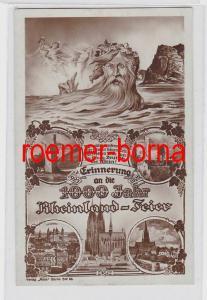 81682 Ak Erinnerung an die 1000 Jahr Rheinland-Feier 1925