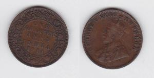 1/4 Anna Kupfer Münze East India Company 1914 (113883)
