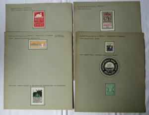 Alte Sammlung mit 26 Reklamemarken Vignetten Tschechien CSSR Böhmen (126463)