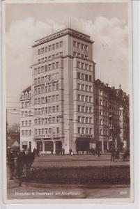 83932 Ak Dresden Neustadt Hochhaus am Albertplatz um 1930