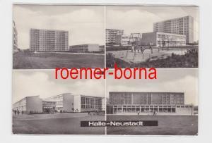 59839 Mehrbild Ak Halle Neustadt Kindereinrichtung Pittiplatsch u. Schule 1971