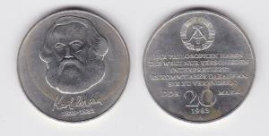 DDR Gedenk Münze 20 Mark Karl Marx 1983 (121399)