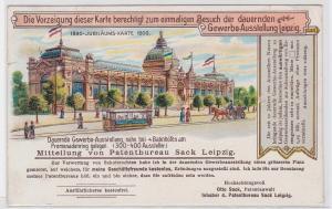 88205 Einladungs AK Berechtigung zum Besuch der Gewerbe Ausstellung Leipzig