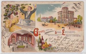 85743 Lithografie AK Gruss aus d. Obstweinschänke Schloss Böhlitz-Ehrenberg 1910
