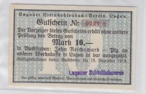 10 Mark Banknote Lugauer Steinkohlenbau Verein 15.12.1918 (119349)