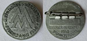 Seltenes Metall Abzeichen Leipziger Frühjahrsmesse 1940 (125528)