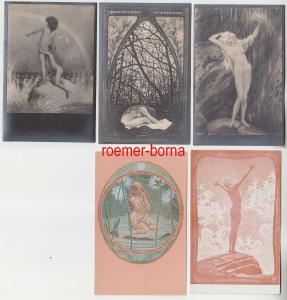 04947/5 Erotik Ak Kunst und Skulpturen um 1910