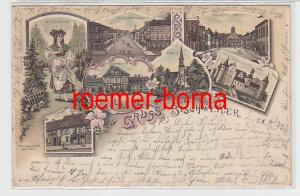 82231 Ak Lithographie Gruss aus Bischweiler im Elsass 1897
