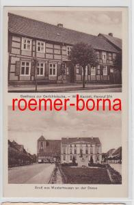 81340 Ak Gruß aus Wusterhausen a.d. Dosse Gasthaus zur Gerichtslaube um 1920
