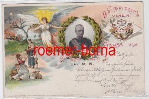 81740 Ak Lithographie Wohltätigkeitsverein sächsische Fechtschule 1899