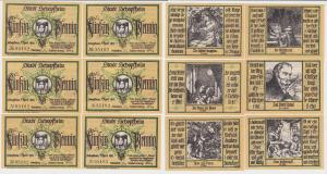 6 Banknoten Notgeld Stadt Schopfheim 1.April 1921 (121160)