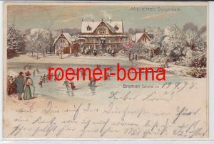 81645 Ak Bremen Meierei Bürgerpark im Winter 1898