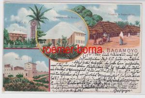 85807 AK Gruss aus Bagamoyo - Gouvernements-Messe, Boma, Sraßenansicht 1902