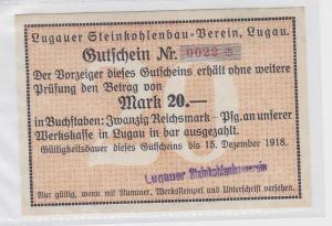 20 Mark Banknote Lugauer Steinkohlenbau Verein 15.12.1918 (118860)