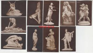 74964/9 Erotik Ak Kunst und Skulpturen um 1910