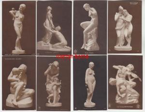 69203/8 Erotik Ak Kunst und Skulpturen um 1910