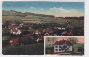 09725 Mehrbild Ak Bachs Totalansicht und Consumgebäude 1921