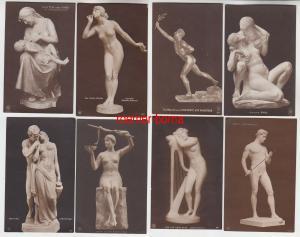 13644/8 Erotik Ak Kunst und Skulpturen um 1910