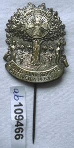 Altes Blech Abzeichen Erzgebirgische Bundesgruppe Mittweida 1908 (109466)