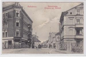 91800 AK Rathenow - Steinstrasse, Eingang zur Altstadt, Straßenansicht 1906
