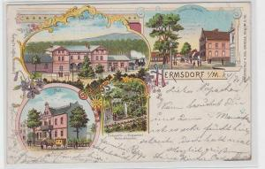 92536 Ak Lithographie Gruß aus Hermsdorf i.M. Post, Schule usw. 1899