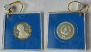 DDR Gedenk Münze 10 Mark Carl Maria von Weber 1976 PP verplombt (108764)