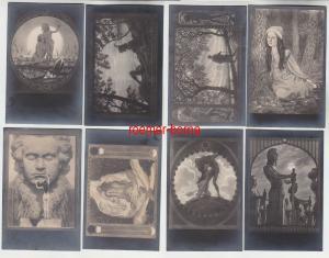 74086/8 Erotik Ak Kunst und Skulpturen um 1910