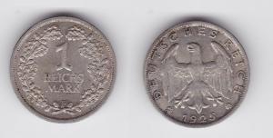1 Reichsmark Silber Münze Weimarer Republik 1925 F (119894)