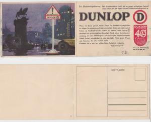 11898 Doppel Klapp Ak Dunlop Rutschasphalt um 1930