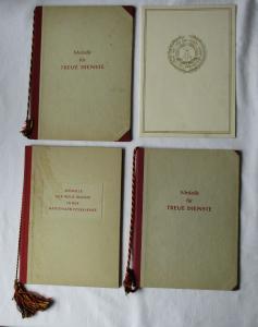 DDR Urkunde Medaille für Treue Dienste NVA 1957 & 1959 KVP 1954 (135006)