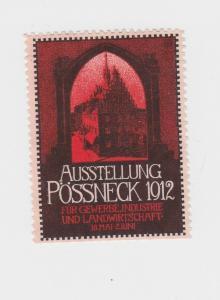 Seltene Vignette Gewerbe Ind. & Landwirtschaftsausstellung Pößneck 1912 (94070)