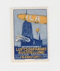 Vignette Internationale Luftschiffahrt Ausstellung Frankfurt a.M. 1909(92949)