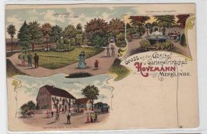 92793 Ak Lithographie Gruß aus dem Gasthof Hovemann Merklinde um 1900