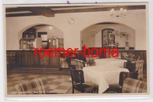 85028 Foto Ak Gmund am Tegernsee Café Maximilian Gastraum um 1940