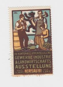 Seltene Vignette Gewerbe Ind. & Landwirtschaftsausstellung Herisau 1911 (88586)