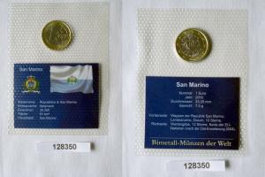 Bi-Metall Münze 1 Euro San Marino 2010 in TOP Erhaltung im Blister (128350)