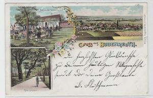 82588 Ak Lithographie Gruß aus Bubenreuth Malters Gartenrestaurant 1899