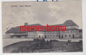 85025 Ak Wanne (Herne) Neuer Bahnhof 1913