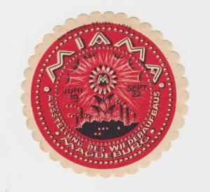 Seltene Vignette MIAMA Ausstellung des Wiederaufbaus Magdeburg 1922 (87169)