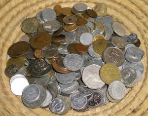 Sammlung bzw. Konvolut mit 1 Kilo Kleinmünzen aus aller Welt (107873)
