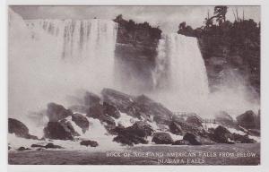 56011 Ak Rock of ages and american falls from below Niagara Falls 1914