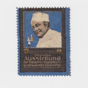 Seltene Vignette Deutsche Ausstellung für Bäckerei Stuttgart 1911 (85658)