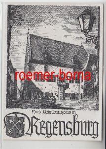 83243 Künstler Ak Das Alte Rathaus in Regensburg 1947