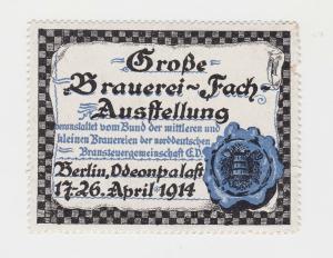 Vignette Große Brauerei Fach Ausstellung Berlin Odeonpalast 1914 (89162)