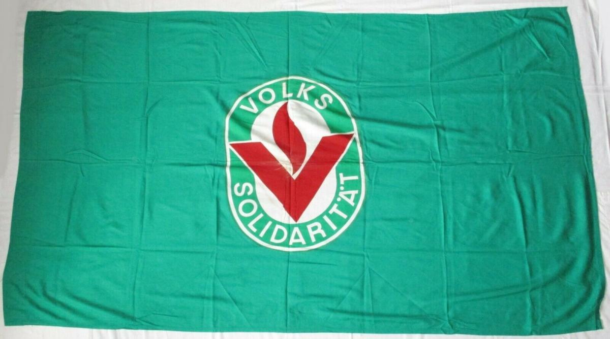 DDR Fahne Flagge Volkssolidarität Emblem (135352) 0