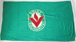 DDR Fahne Flagge Volkssolidarität Emblem (135352)